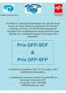 Prix des divisions SCF/SFP